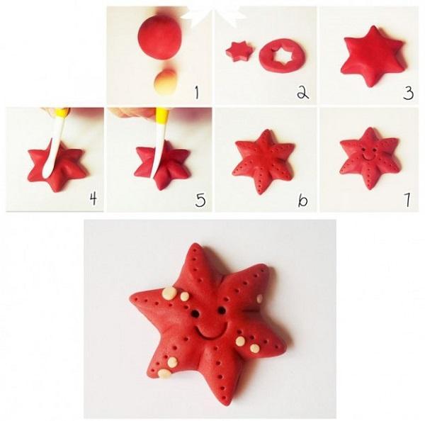 Поделки своими руками Пластилин. Звезда из пластилина Поделки на праздники