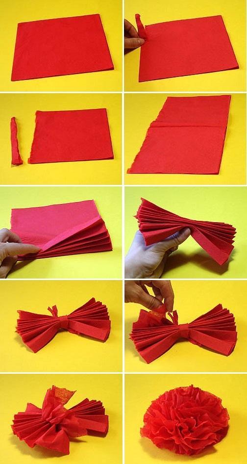 Цветы Мастер класс гвоздика из красной бумаги Поделки на праздникиПоделки своими руками